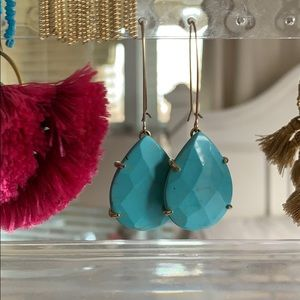 Kendra Scott turquoise drop earrings